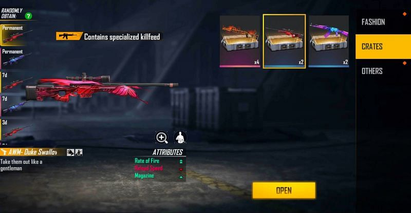 2x Swallowtail Weapon Loot Crate (Image via Free Fire)
