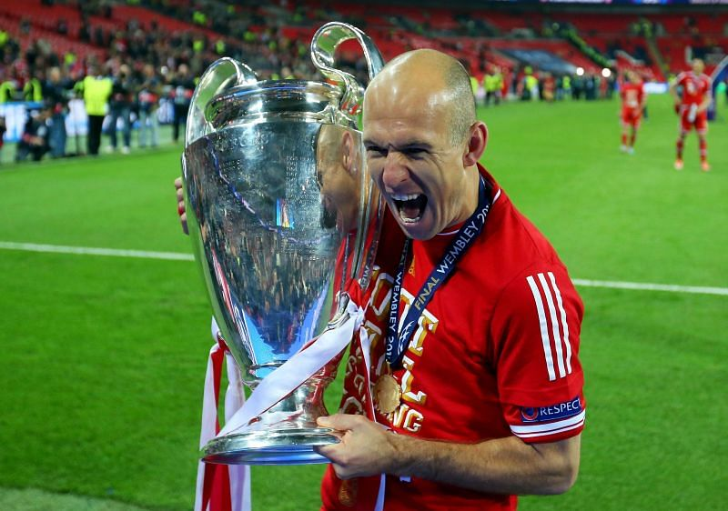 Robben won the treble with Bayern in 2013