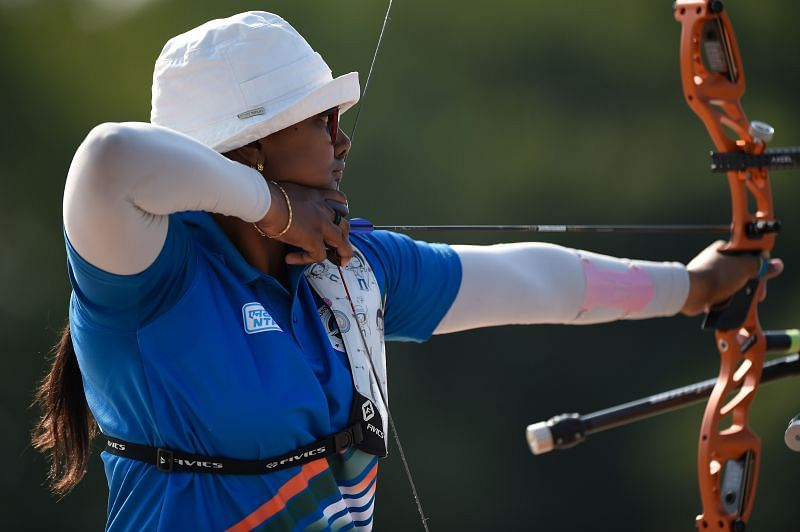 Deepika Kumari at the Archery Tokyo 2020 Test Event.