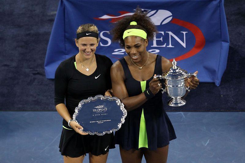 Victoria Azarenka and Serena Williams at the 2012 US Open
