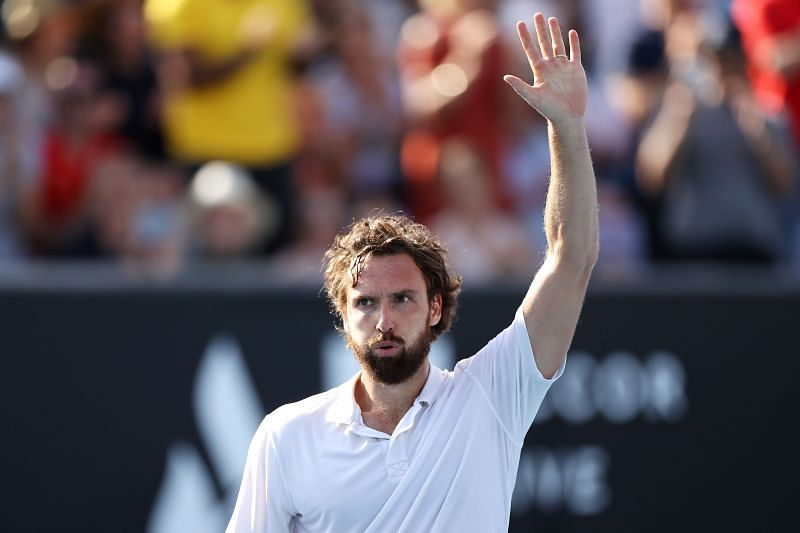 Ernests Gulbis at the 2020 Australian Open