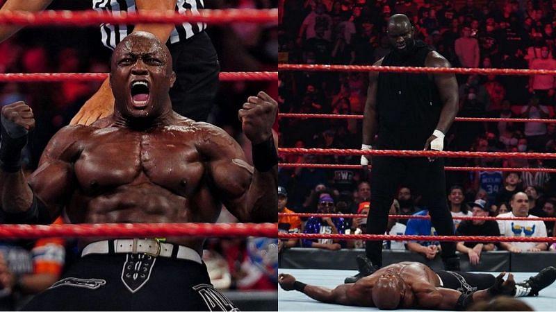 WWE Raw में इस हफ्ते बॉबी लैश्ले और ओमोस का आमना-सामना देखने को मिला था