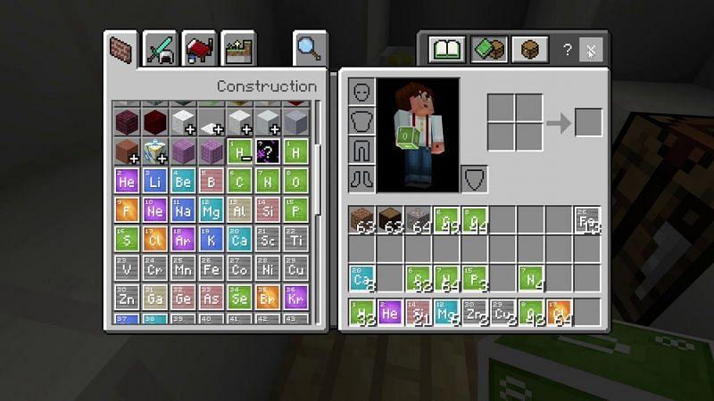 A variety of elements showcased via the Creative Mode inventory (Image via Mojang)