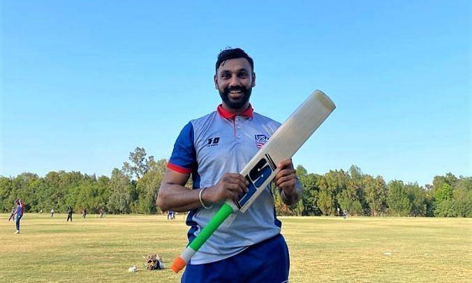 जसकरण मल्होत्रा ने PNG के गेंदबाज गौडी टोका के खिलाफ पारी के 50वें ओवर में 6 छक्के लगाये Photo - USA Cricket