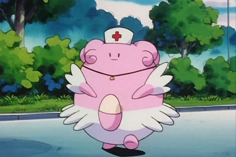 Blissey is often seen helping out a Pokemon Centers (Image via The Pokemon Company)