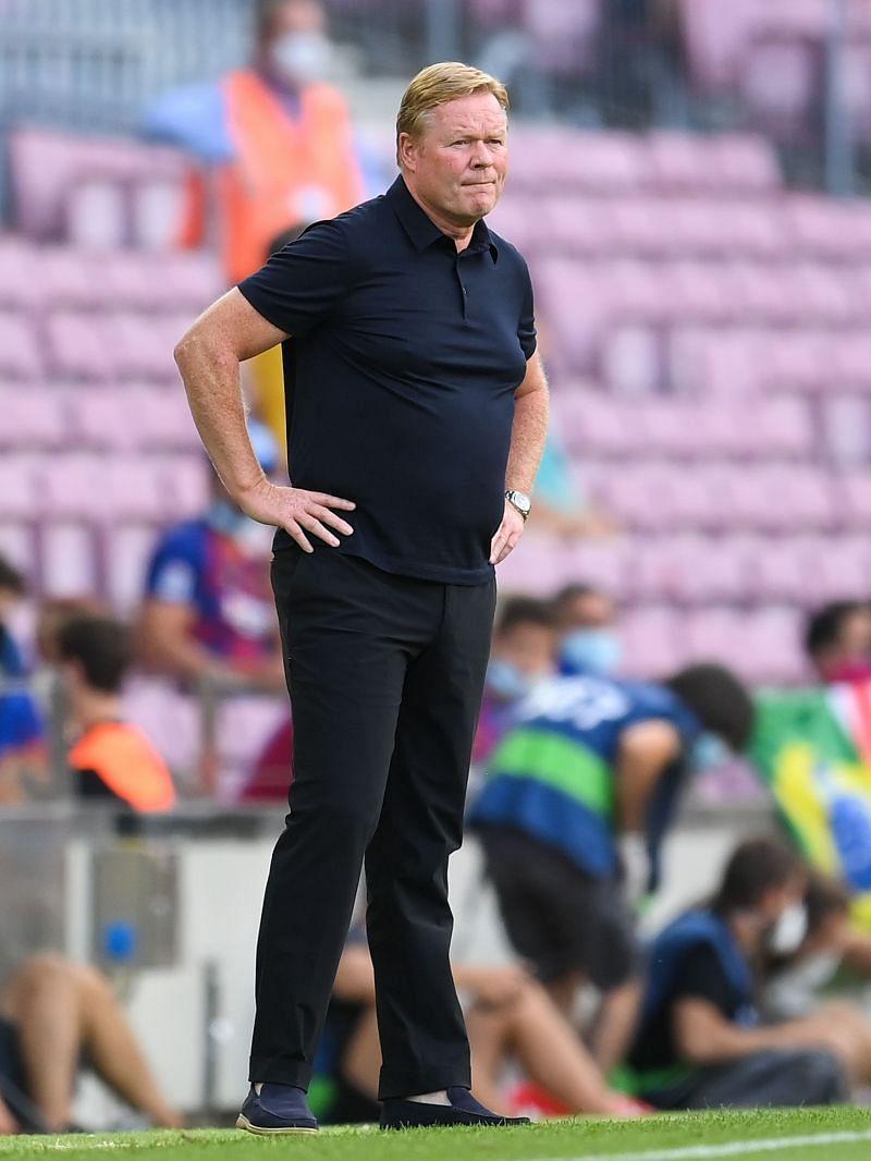 FC Barcelona coach Ronald Koeman