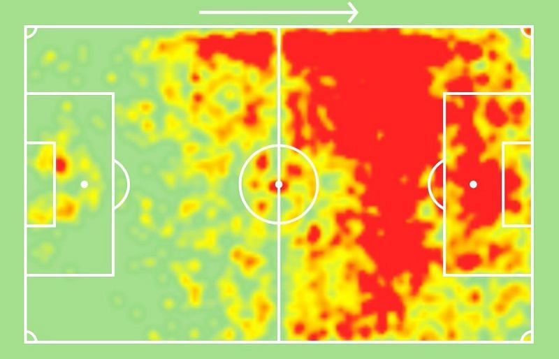 This was Ronaldo's heat map since joining Juventus.
