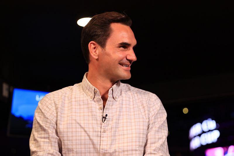 Roger Federer at the 2021 Laver Cup