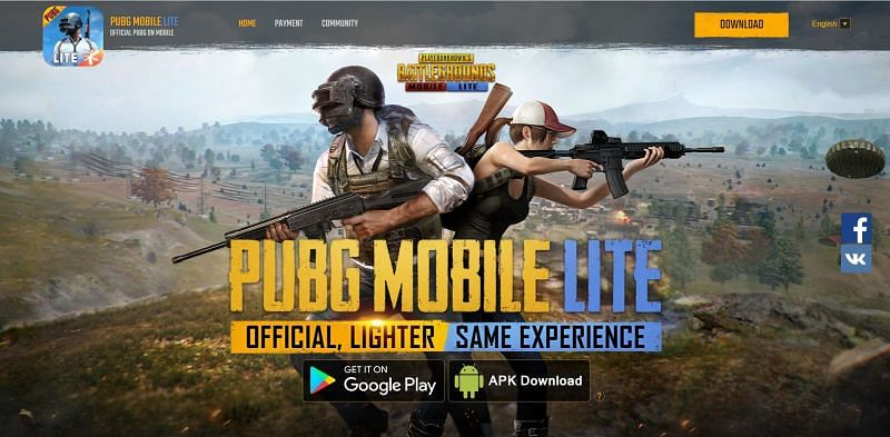 After reaching the website, gamers have to tap on the APK Download button (Image via PUBG Mobile Lite)