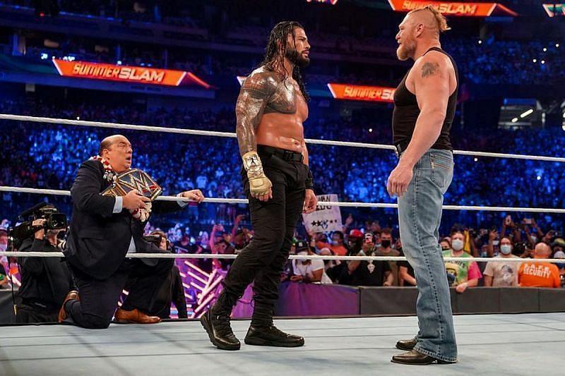 WWE में अगले महीने ब्रॉक लैसनर और रोमन रेंस के बीच होगा मैच?