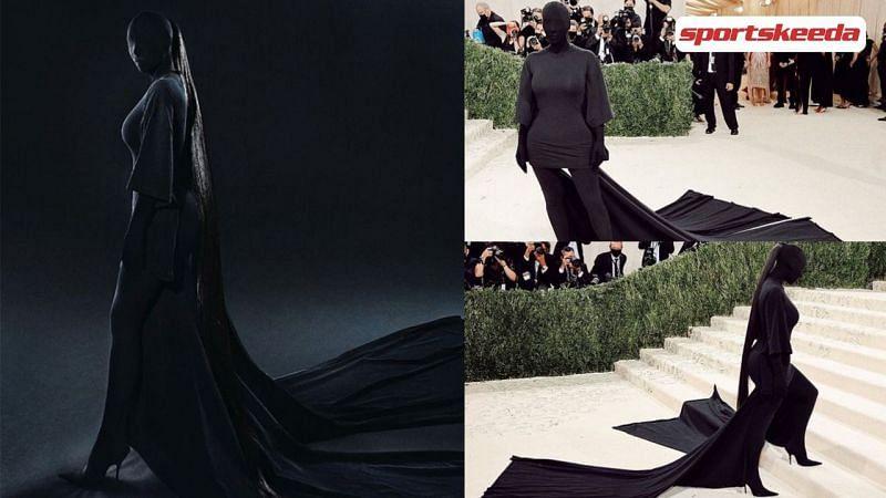Kim Kardashian at the Met Gala 2021 (Image via Sportskeeda)