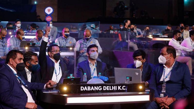 Dabang Delhi KC at PKL Auction 2021