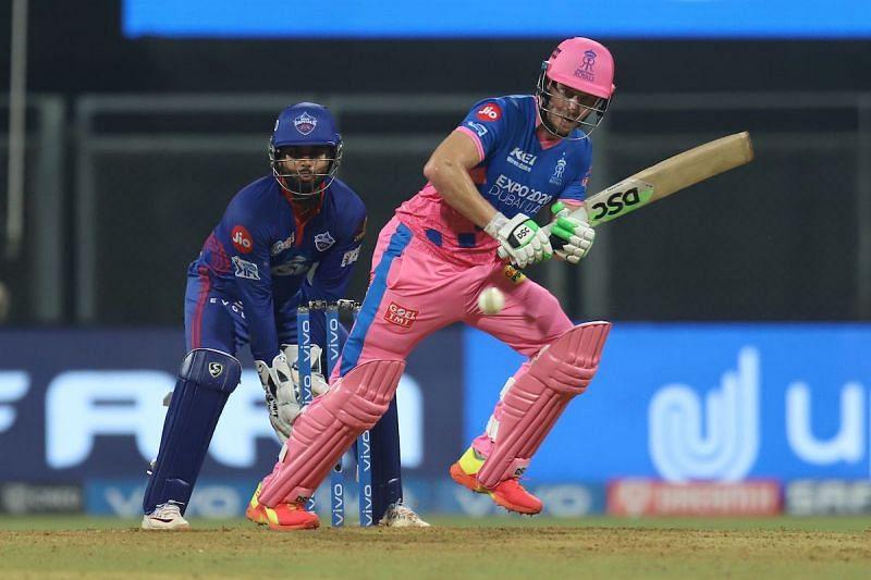 David Miller (batting) scored a half-century when Rajasthan Royals met Delhi Capitals earlier in the season