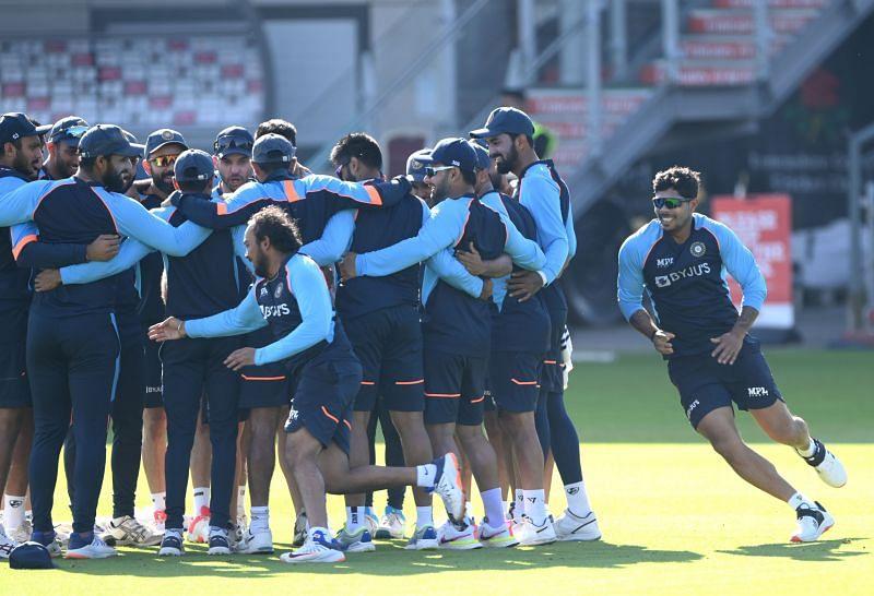 नेट सेशन के दौरान भारतीय खिलाड़ी