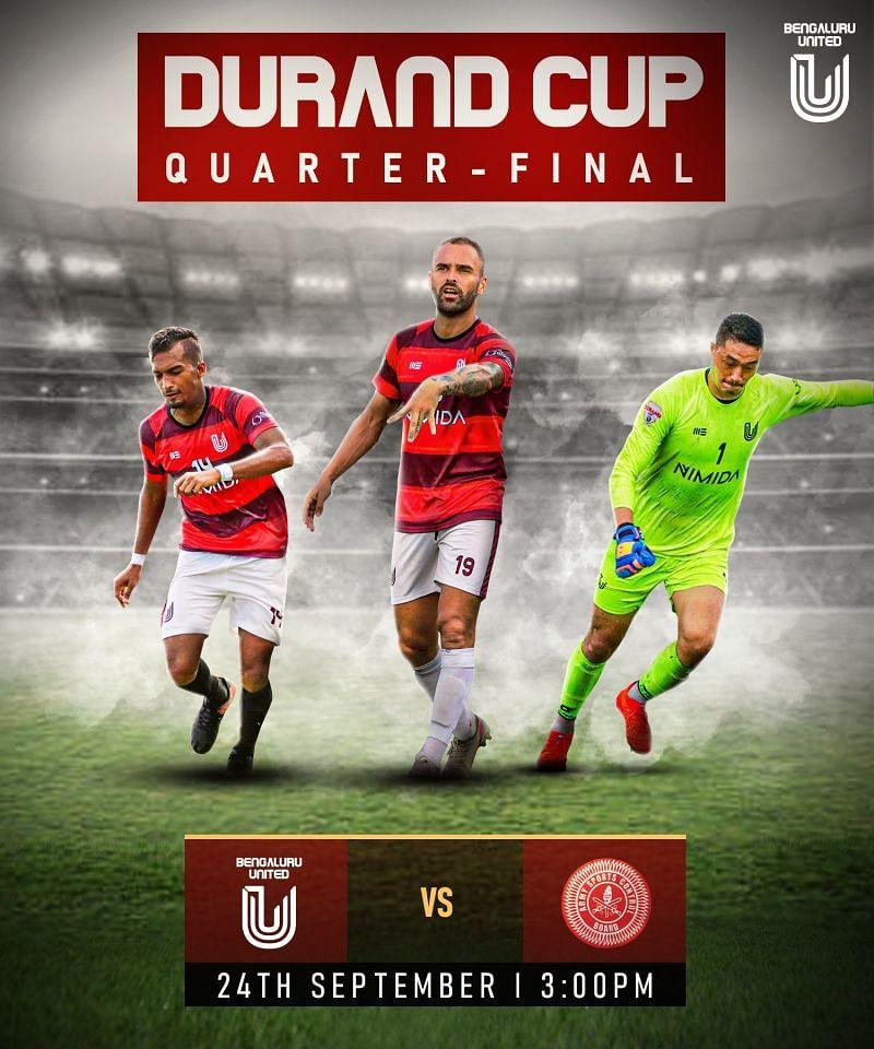 FC Bengaluru United's next match in the Durand Cup 2021