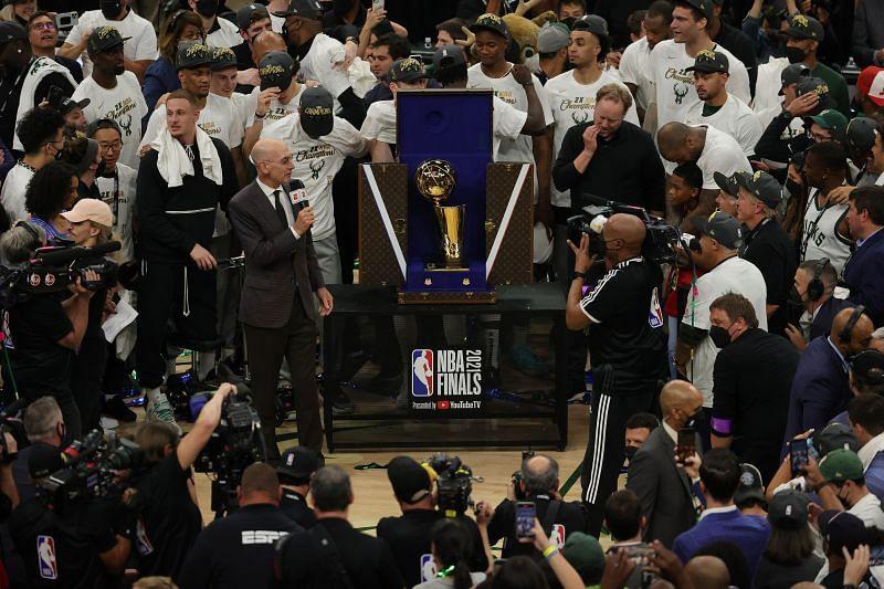 Milwaukee Bucks emerge as NBA Champions for the 2020-21 NBA season.