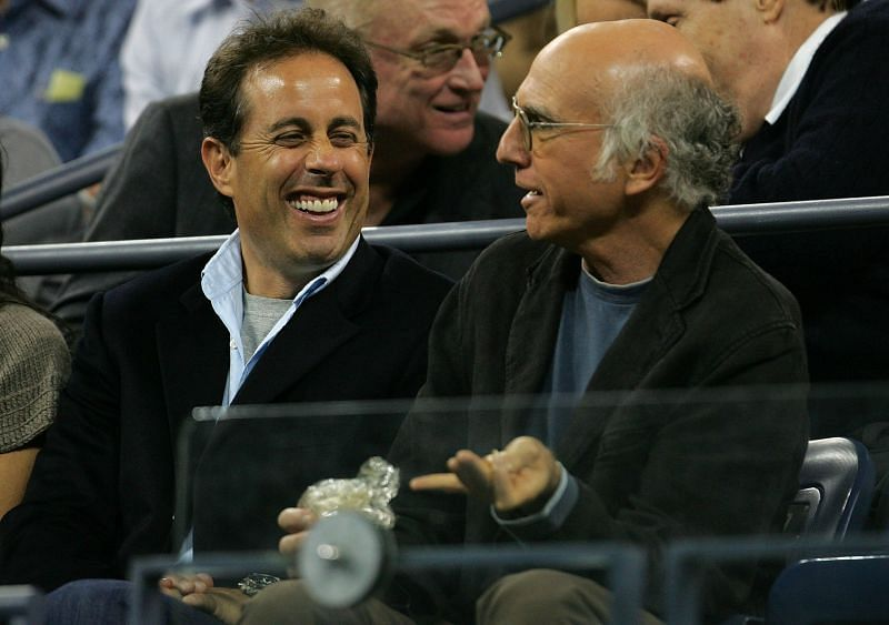 Jerry Seinfeld and Larry David at U.S. Open Day Ten (Image via Getty)