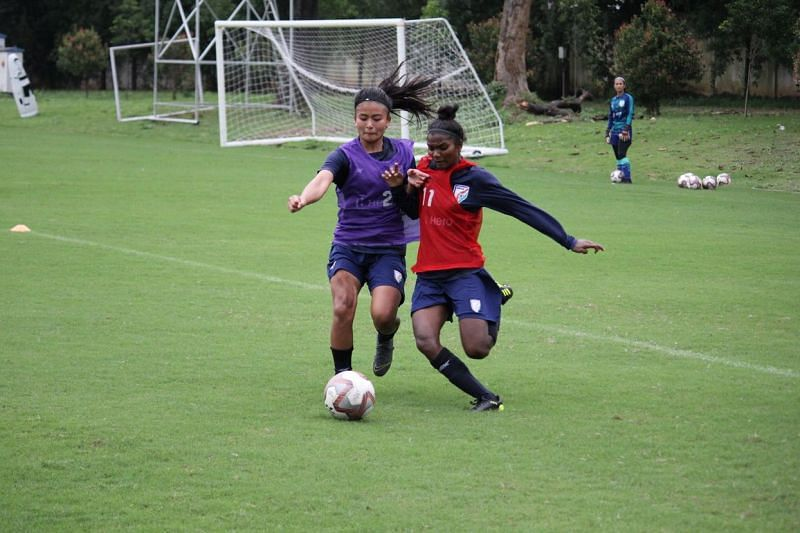 Sumati Kumari is currently at the Indian women's national team camp in Jamshedpur (Credits: AIFF)