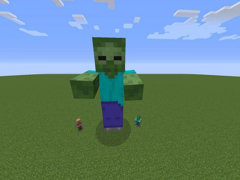 Giant zombie (Image via Mojang)