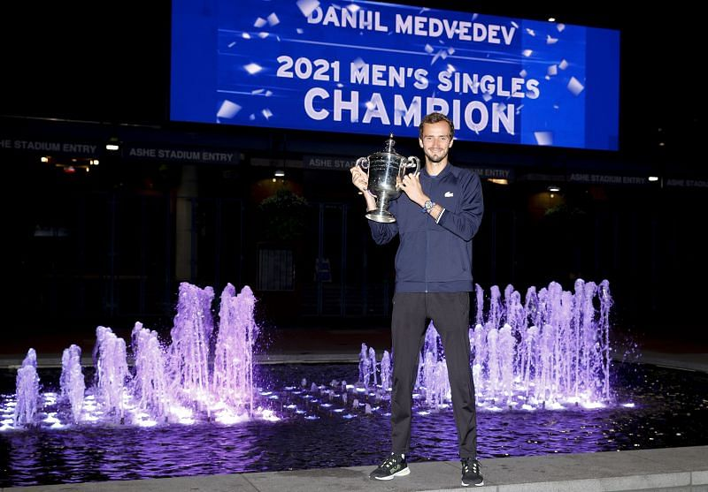 Daniil Medvedev with his 2021 US Open title