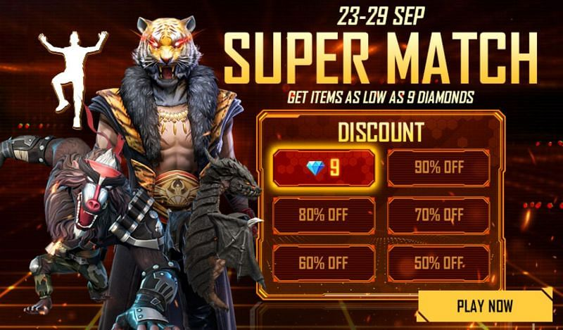Super Match event will be available until 29 September 2021 (Image via Free Fire)