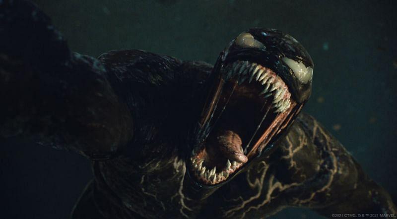Tom Hardy em e como Venom em Venom - Let there be Carnage (fornecido pela Sony Pictures)