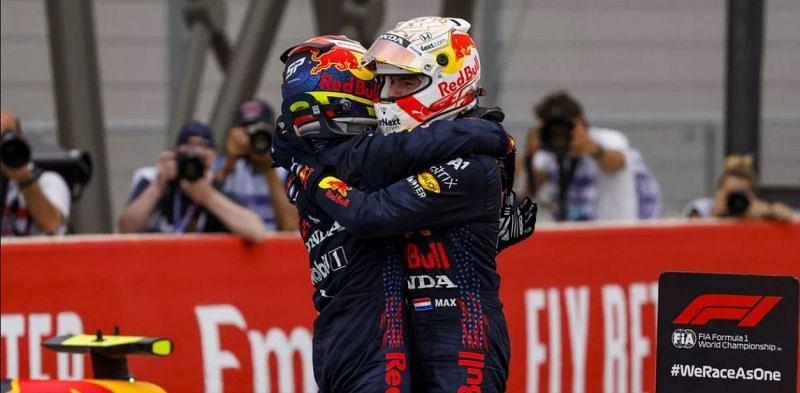 Max Verstappen and Sergio Perez Source: Motorsport Images