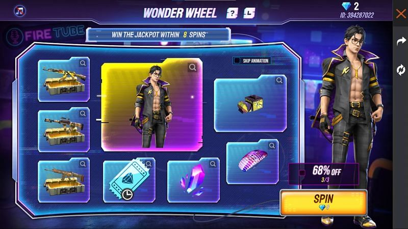 There are various rewards available (Image via Free Fire)
