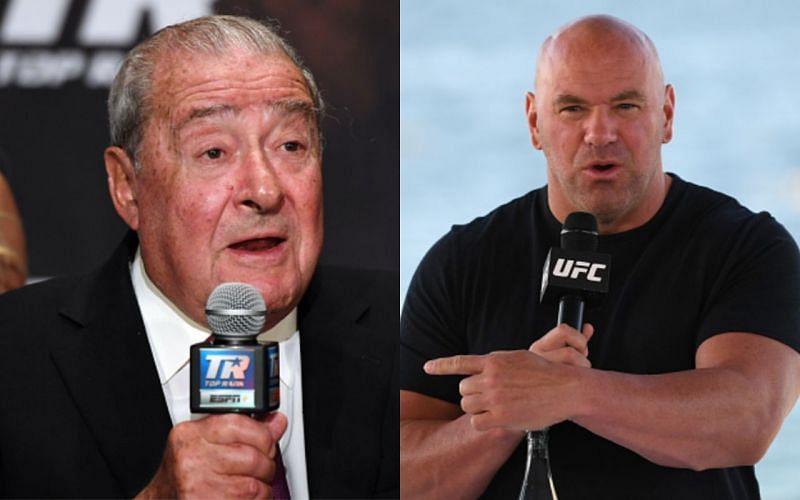 Bob Arum (left); Dana White (right)