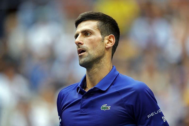 Novak Djokovic during the final against Daniil Medvedev