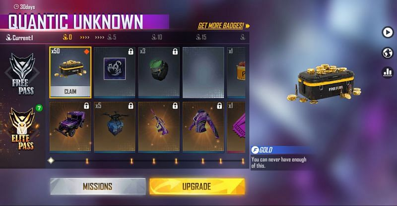 You should click on the upgrade button (Image via Free Fire)