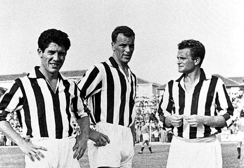 John Charles, along with Sívori and Boniperti, rant rampant in the Serie A with Juventus