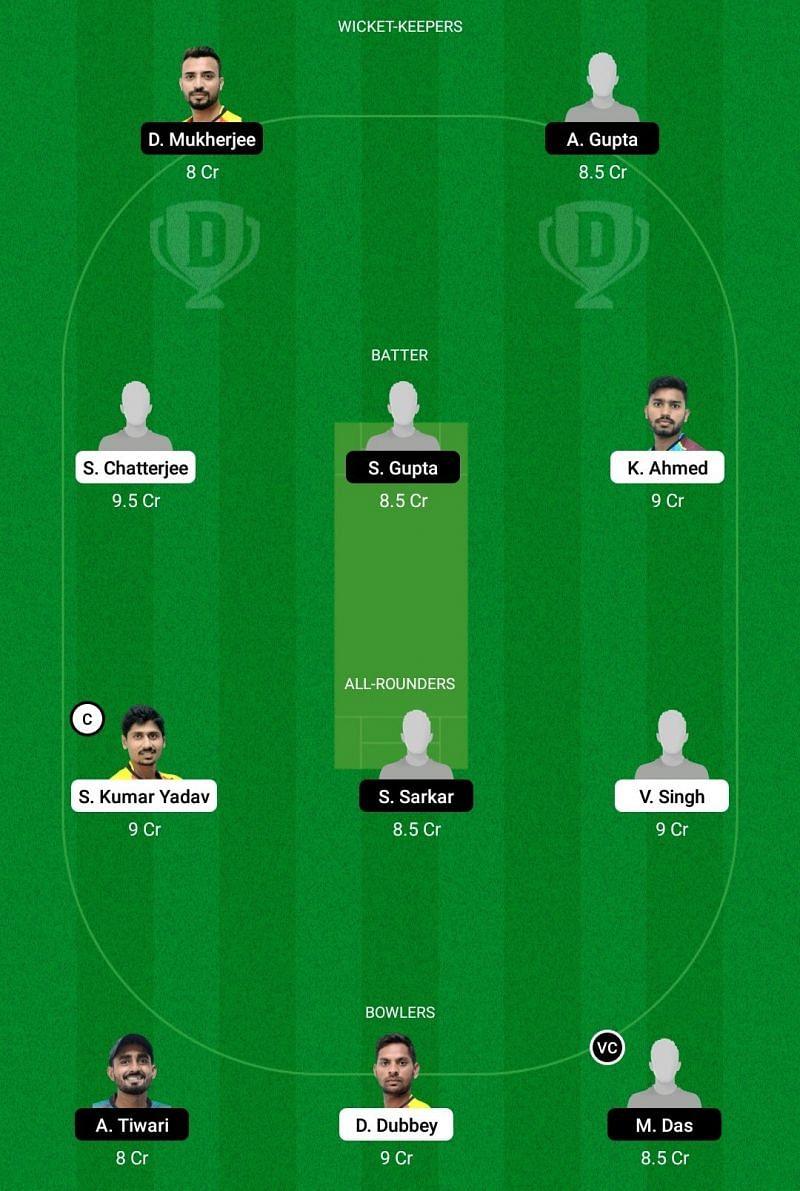 Bengal T20 BB vs KW Dream11 Team - 1