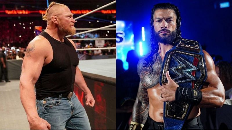 WWE सुपरस्टार ब्रॉक लैसनर और यूनिवर्सल चैंपियन रोमन रेंस