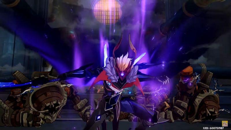 Tartaglia in Foul Legacy form having defeated multiple Ruin Guards (Image via Hollow Wind)