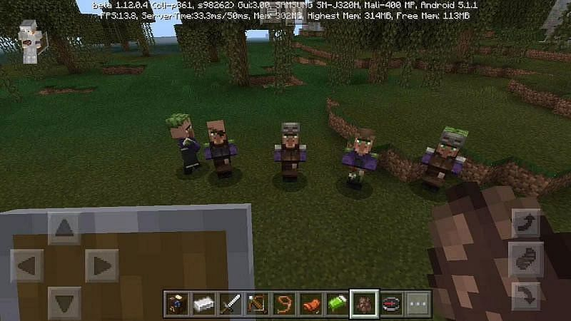 Minecraft swamp villagers in their home biome (Image via Minecraft)