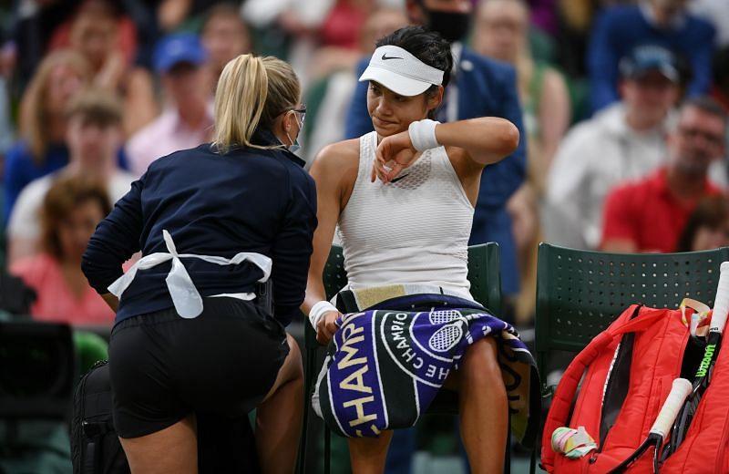 Emma Raducanu at Wimbledon 2021