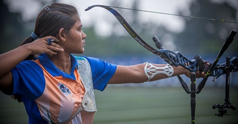 Ankita Bhakat is in the Top 8 of the Recurve Women's Archery. (©SAI Twitter)