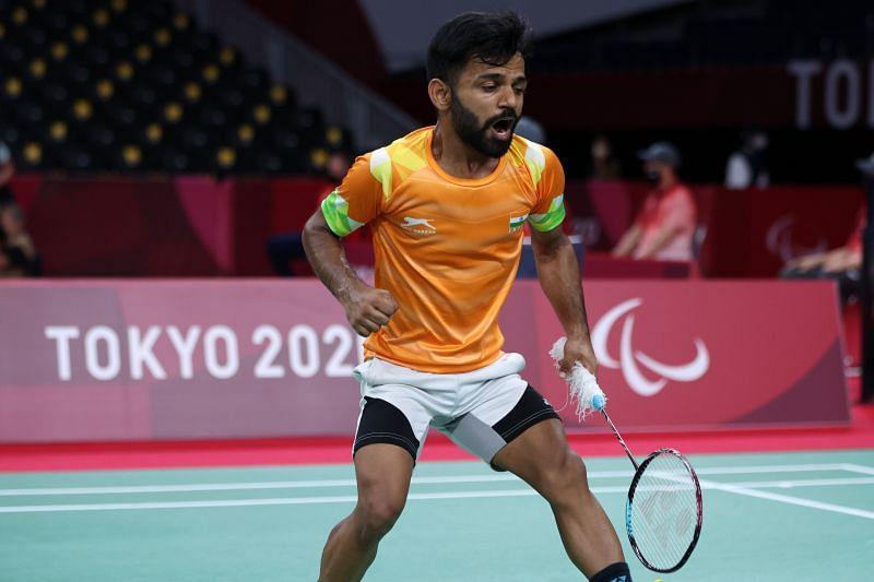 2020 TokyShuttler Krishna Nagar wins gold in the men's singles SH6 finals.