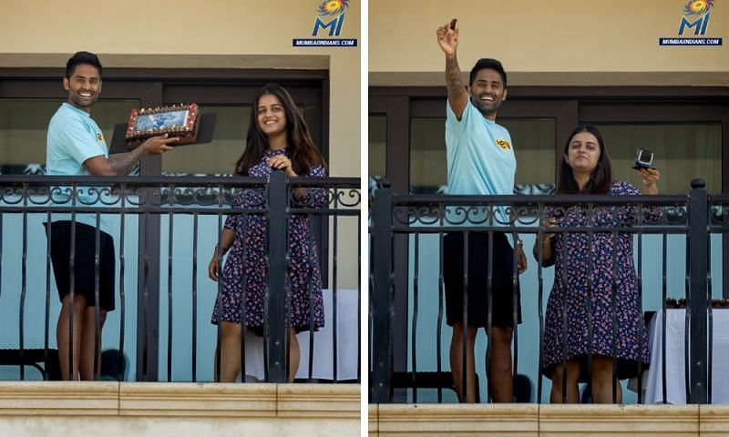 Suryakumar Yadav enjoys his 31st birthday in quarantine (Credit: Mumbai Indians)