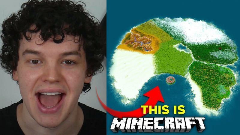 TrixyBlox and his latest Minecraft creation