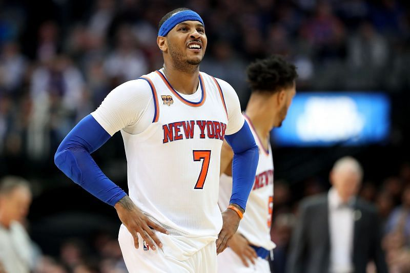 Carmelo Anthony of the New York Knicks in the 2012-13 NBA season