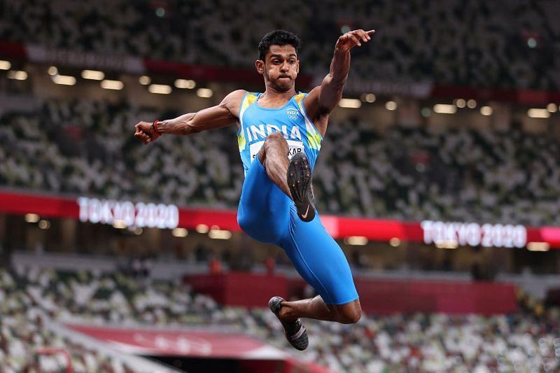 India's Sreeshankar at the Tokyo Olympics