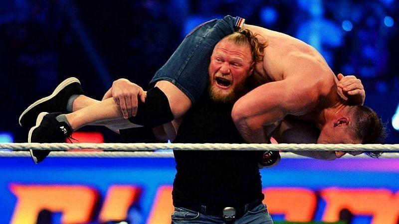 WWE SummerSlam में की थी ब्रॉक लैसनर ने वापसी