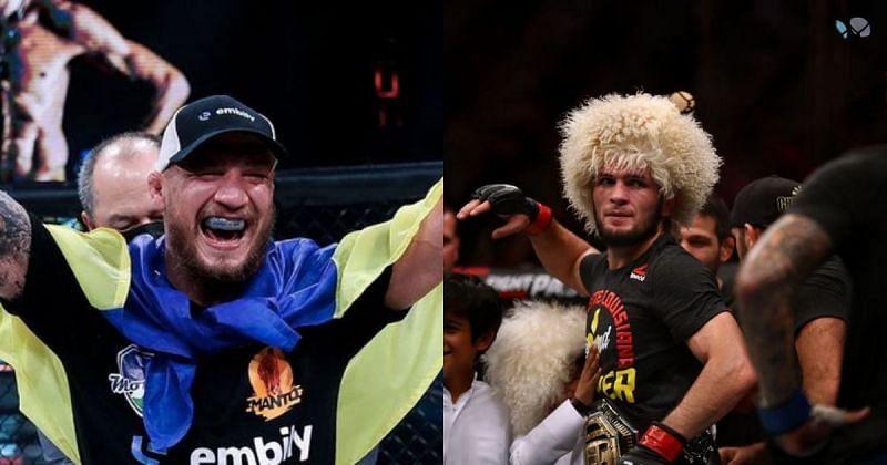 Austin Vanderford has bravely compared Yaroslav Amosov with UFC lightweight GOAT Khabib Nurmagomedov (via: @s_amoskin on Instagram)