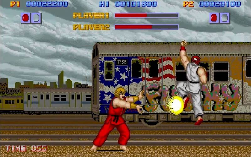 Ryu and Ken out here fighting on the streets! (Image via Capcom)
