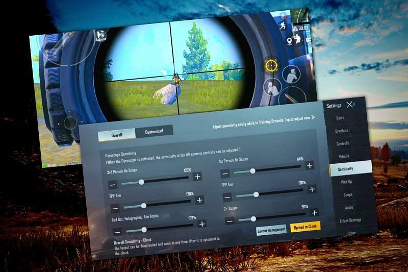 Adjust gyroscope settings for accurate headshots in BGMI (Image via Sportskeeda)