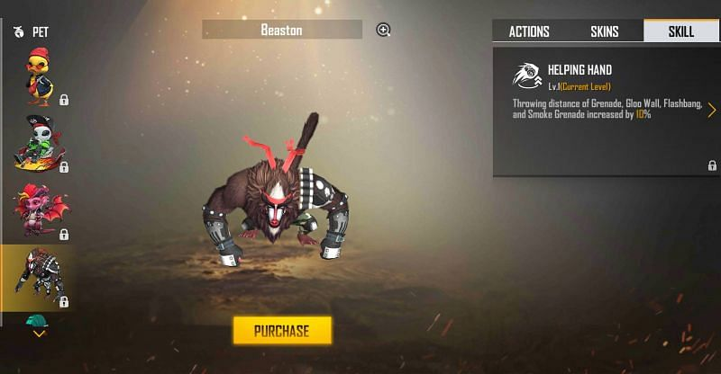 Beaston and its ability (Image via Free Fire)