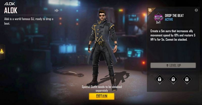 Alok was added back in 2019 (Image via Free Fire)