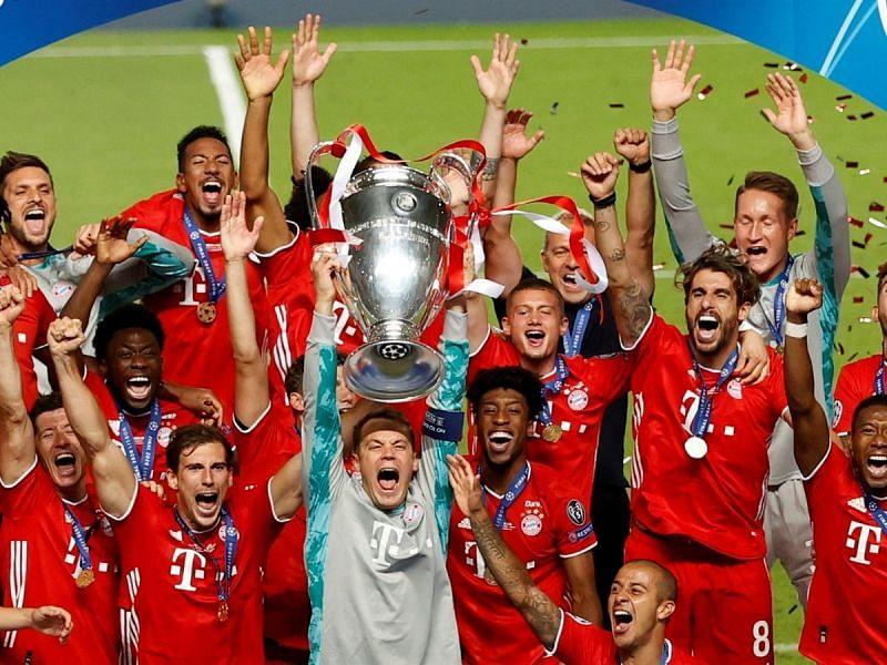 Neuer captained Bayern Munich to their second European treble last year